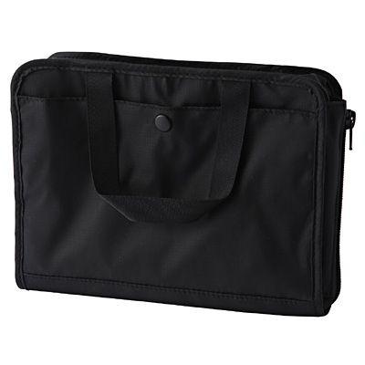 ナイロン見開きバッグインバッグ B6サイズ・黒   無印良品ネットストア