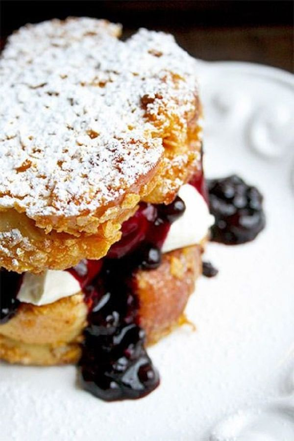 Mascarpone Blueberry Stuffed French Toast {Recipe}