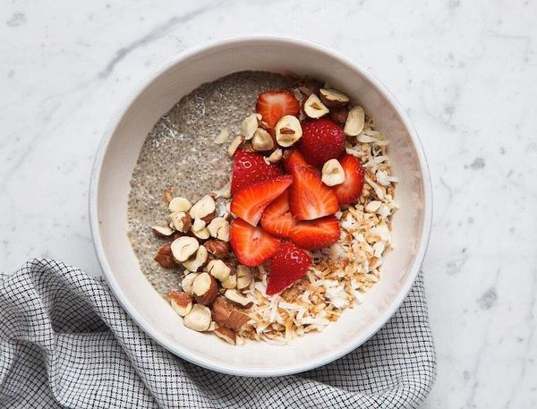 This super simple chia pudding recipe can be dressed up with whatever you like.