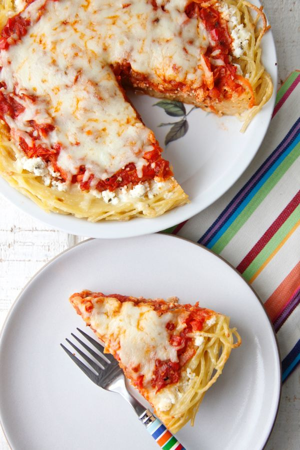 Vegetarian Spaghetti Pie from weelicious.com