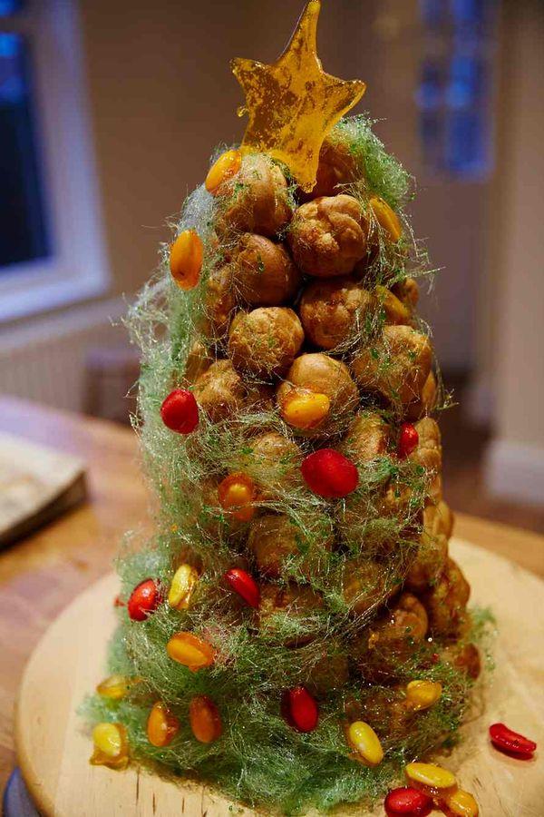 Tamal Ray's Christmas croquembouche