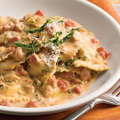 Tuscan Pasta With Tomato-Basil Cream - Quick-Fix 20-Minute Meals   Southern Living