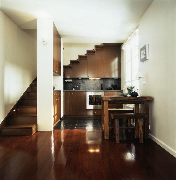Kitchen under stairs stairs and under stairs on pinterest - Kitchen design under stairs ...