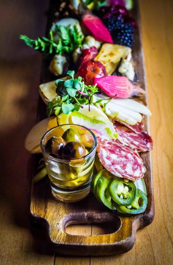 mixed antipasti - meat and cheese plate