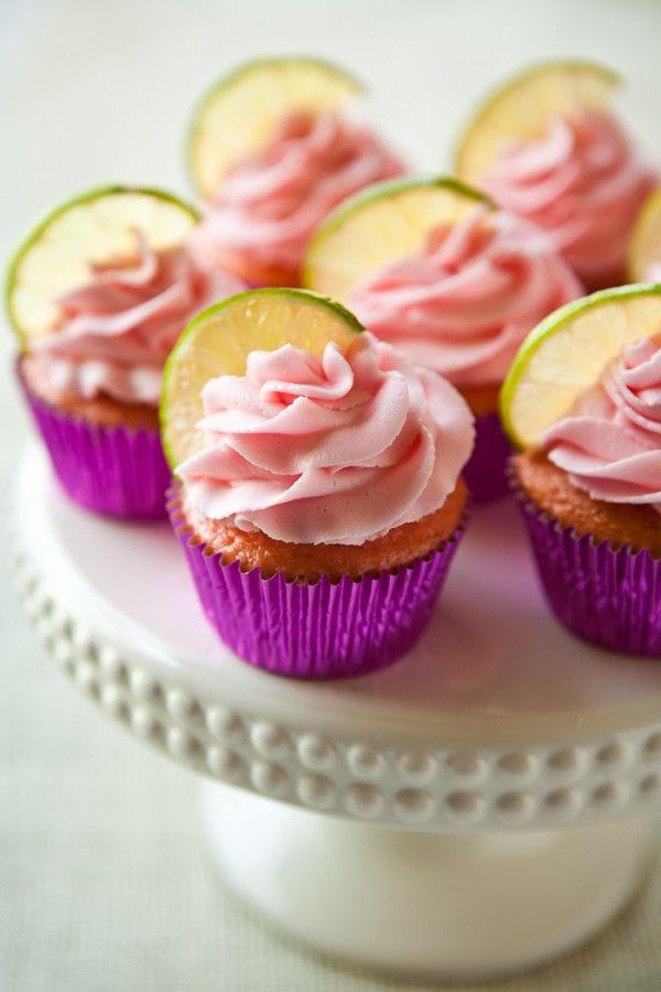 Strawberry Margarita Cupcakes by EclecticRecipes.com #recipe