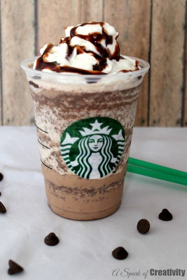 CopyCat Starbucks Double Chocolate Chip Frappuccino - A Spark of Creativity-- one reason I need a nutribullet!!