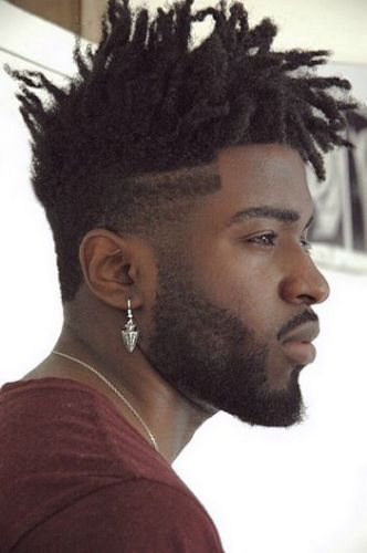 High-top fade locs hairstyle for men