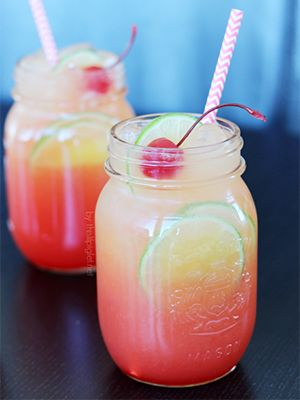 A Shirley Temple with a tropical twist.
