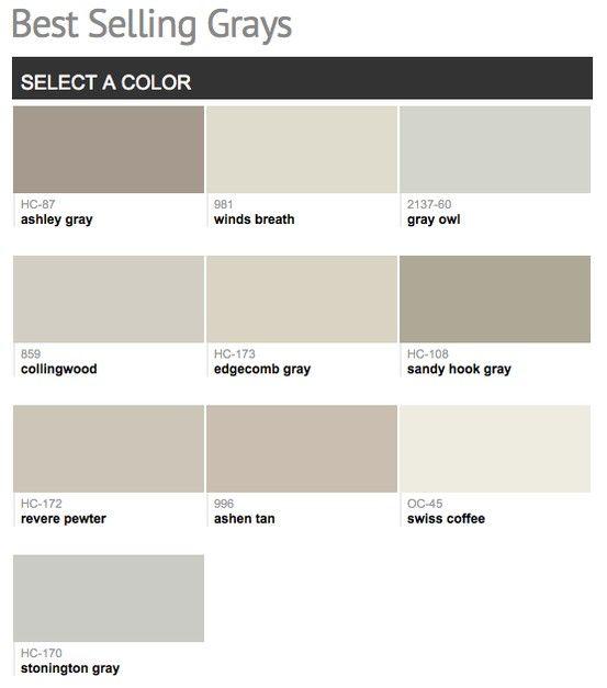 1000 images about paint colors on pinterest for Light neutral grey paint