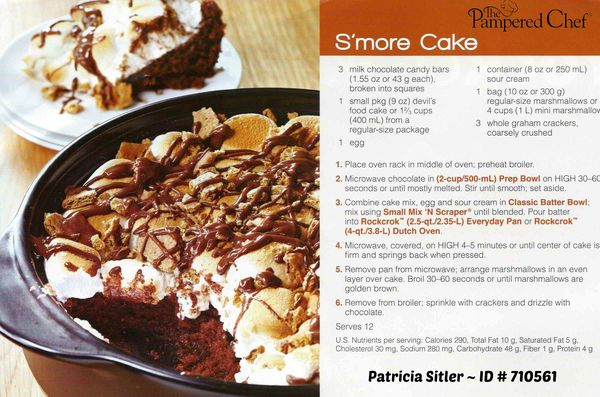 Pampered Chef Smores Cake