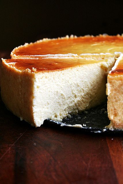 slice of lemon-ricotta cheesecake by alexandracooks