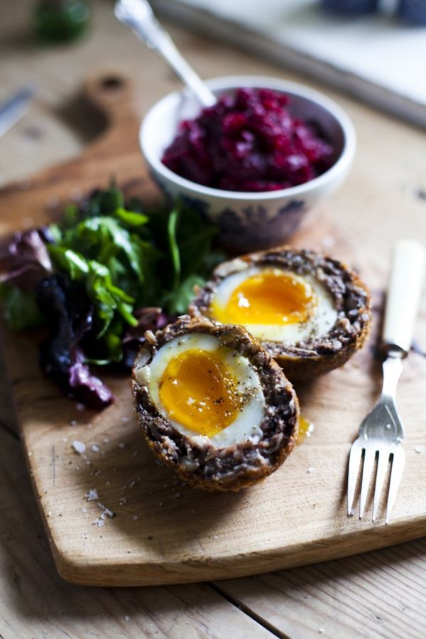 Black Pudding Scotch Eggs with Beetroot Relish…   DonalSkehan.com