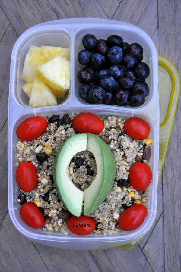 Bentoriffic's Quinoa and beans bento, this can definitely be made allergy free. Great lunch idea.