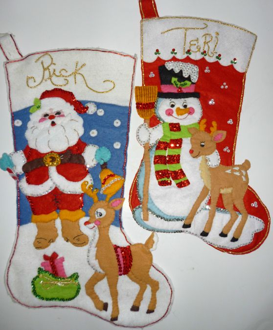 NEW Bucilla Felt Christmas Stocking Kit Jeweled Frosty  Friends