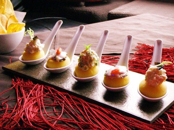 potato appetizers from Peru