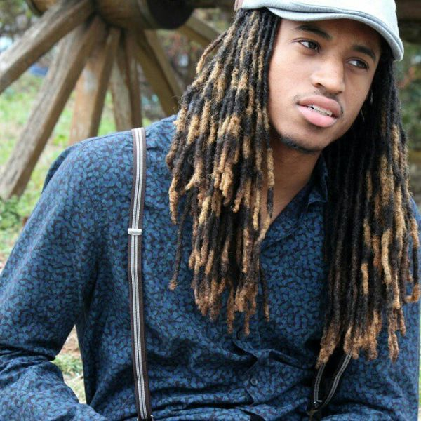 Ombre locs hairstyle for men