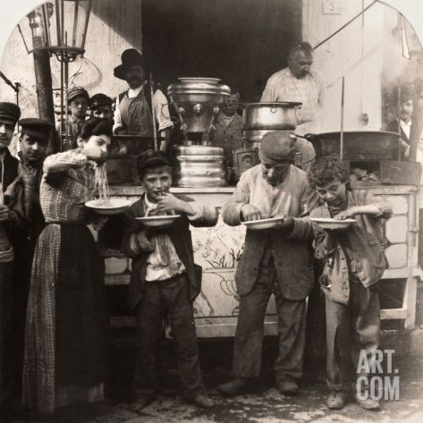 Spaghetti Vendor, C1908 Photographic