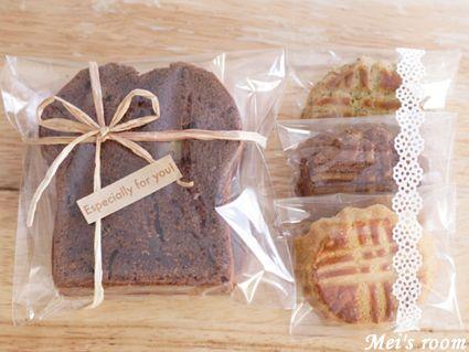 めいの部屋ブログ チョコバナナパウンドケーキとお菓子のラッピング