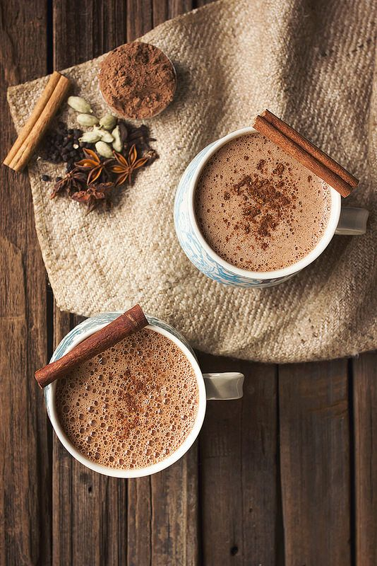 Chai Hot Chocolate... so simple to make, with subtle hints of spice from the chai is so nice with the rich and silky chocolate. It's rich, creamy and comforting!