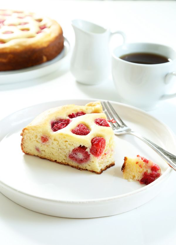 Raspberry Ricotta Gluten Free Breakfast Cake