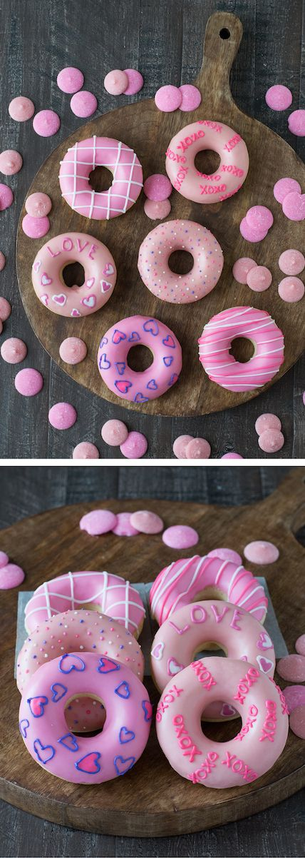 Valentine's Day Donuts - treat your Valentine to a batch of these cute homemade donuts!