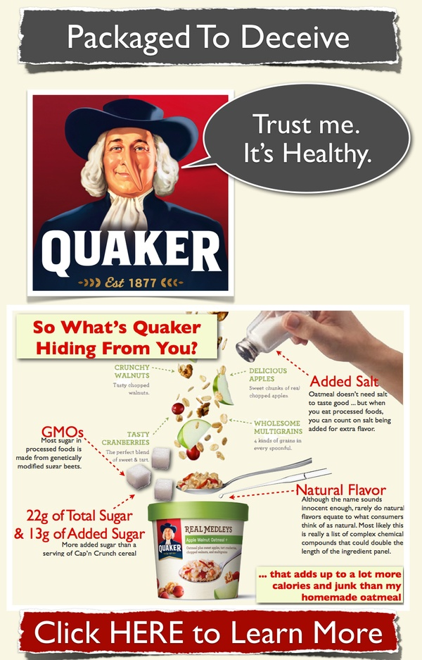 Does Quaker's New Real Medleys Oatmeal live up to its healthy, wholesome imagery? Image