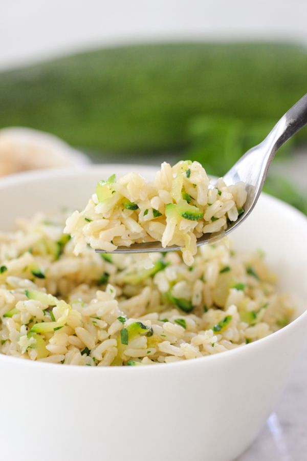 How To Cook Brown Rice Perfectly and Zucchini and Garlic Brown Rice