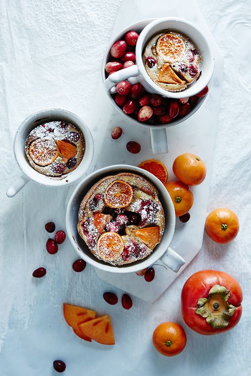 Allspice Persimmon and Cranberry Clafoutis
