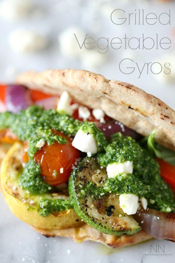 Guest Blogger @Brandy O'Neill {Nutmeg Nanny} : Pesto Veggie Gyro | http://www.bhg.com/blogs/delish-dish/2014/05/14/pesto-veggie-gyro/