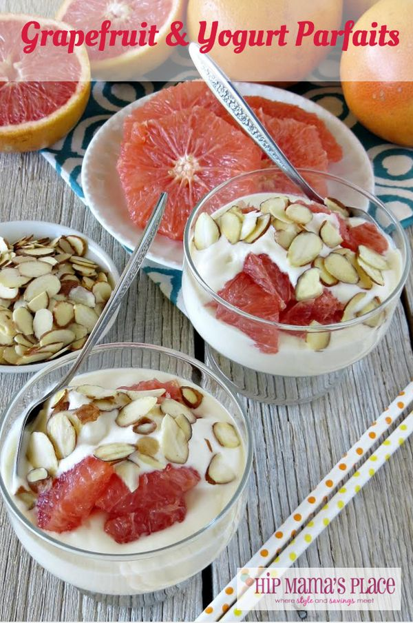Grapefruit and Yogurt Parfaits.. perfect breakfast or snack for #Spring or #Summer!