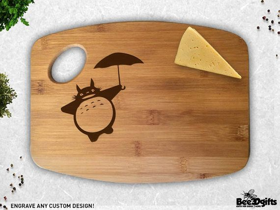 My Neighbor Totoro Inspired Engraved Bamboo Cutting by Bee3DGifts