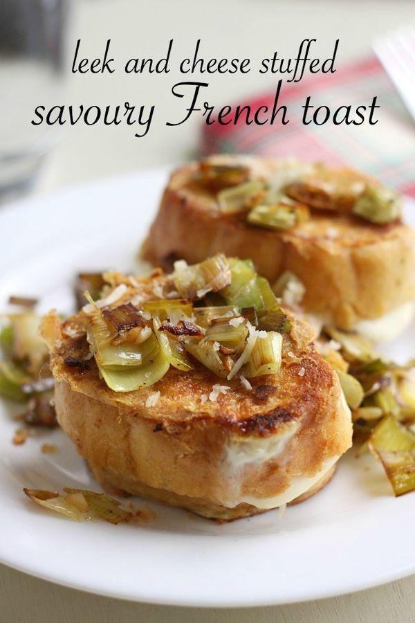 Leek and cheese stuffed savoury French toast   AYB