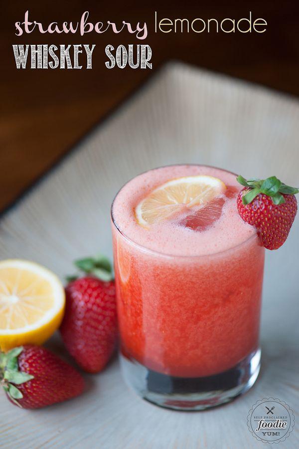 Strawberry Lemonade Whiskey Sour - Self Proclaimed Foodie