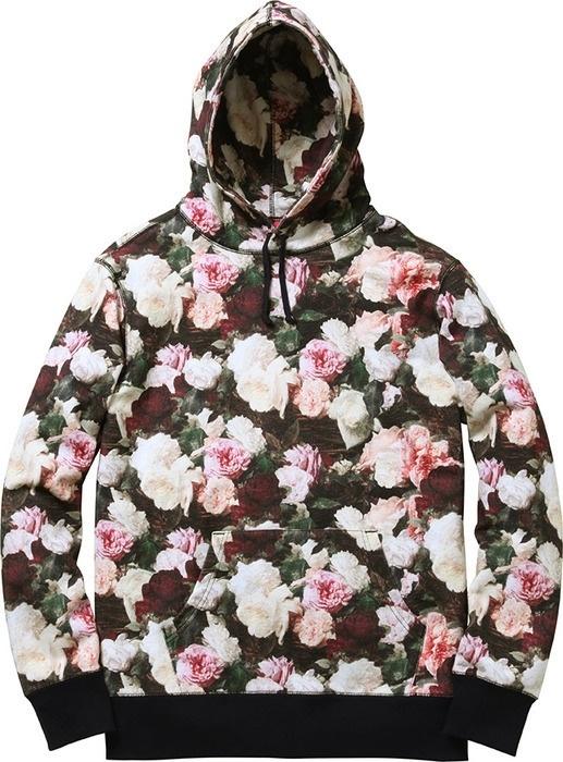 シュプリームの花柄パーカー