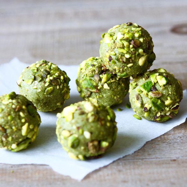Matcha + Pistachio Bliss Balls — Real Food Healthy Body