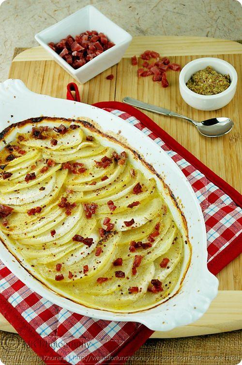 This kohlrabi gratin was incred, sans bacon. Kohlrabi is my new favorite vegetable.
