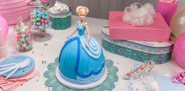 How-To Make a Disney Princess Cinderella Doll Cake