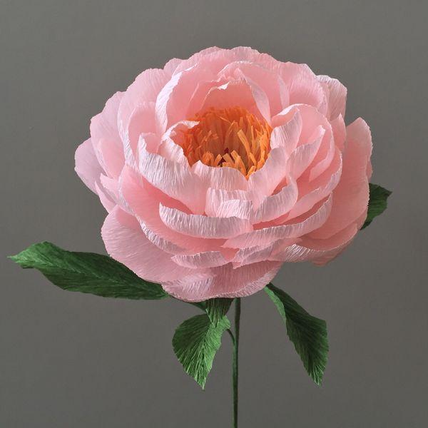 Crepe Paper Peony, Single Stem - Wedding Flowers - Home Decor - Florist Supply…