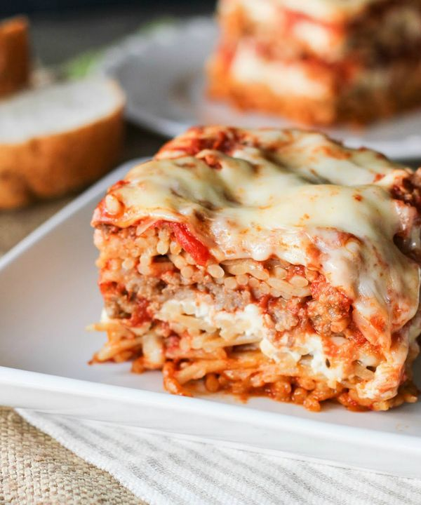 Use this recipe to make Baked Spaghetti Pie.