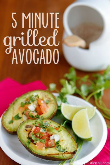 Grilled Avocado Recipe -- these yummy grilled avocados are a super quick and easy, and most importantly... delicious, summertime side dish! | via @unsophisticook on unsophisticook.com