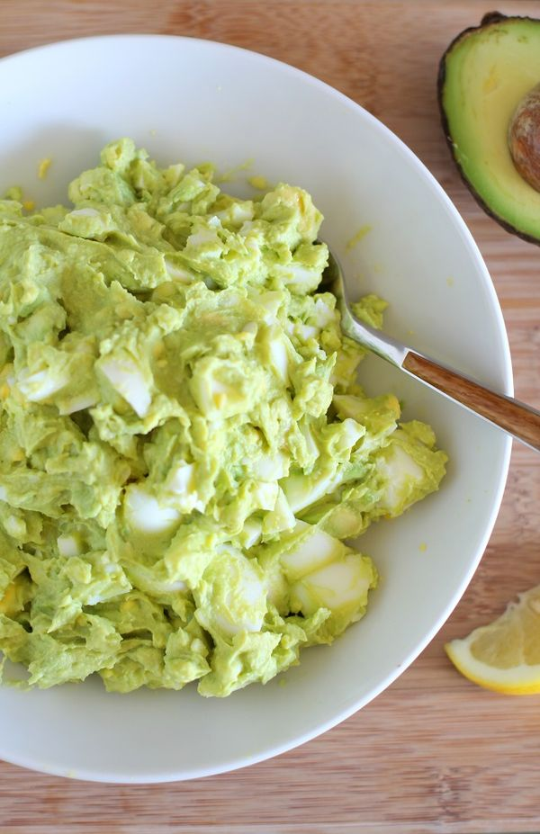 Avocado Egg Salad (Mayo-Free!)  - an easy 4-ingredient lunch recipe   theroastedroot.net