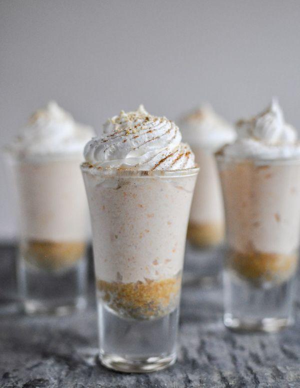 no-bake sweet potato pie cheesecakes via @How Sweet Eats