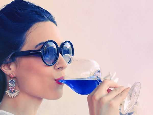 Now There's Blue Wine to Go with Red Wine and White Wine
