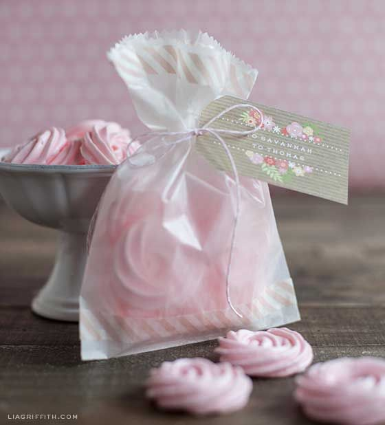 Food Lover Friday: Raspberry Rose Meringues - girly baby shower favor?