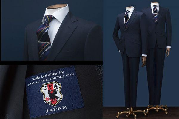【サッカー日本代表オフィシャルスーツ】ダンヒルスーツはココが違う、高級感溢れるスーツ