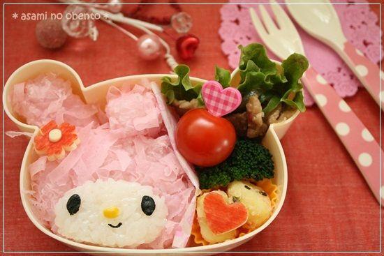 【うさぎとハートおべんとコラボ】マイメロらぶりー弁当♪ の画像|asamiオフィシャルブログ「asamiのおうち。簡単かわいいキャラ弁の作り方」Powered by Ameba