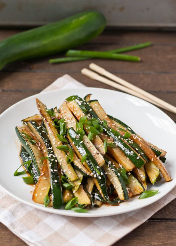 This Spicy Asian Zucchini Recipe is a great 10 minute side dish!