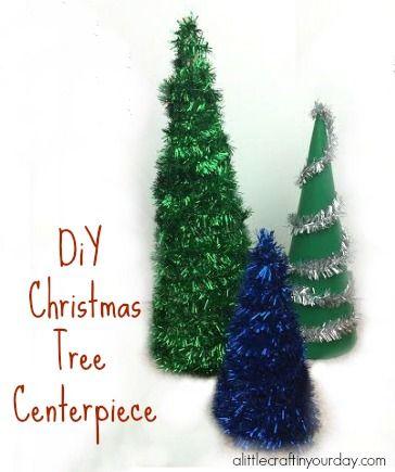 DIY Christmas Tree Centerpiece #CraftersRAK - A Little Craft In Your DayA Little Craft In Your Day