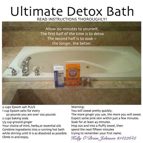 DIY detox ginger bath recipe Ingredients 1 3 cup Epsom salts 1 2