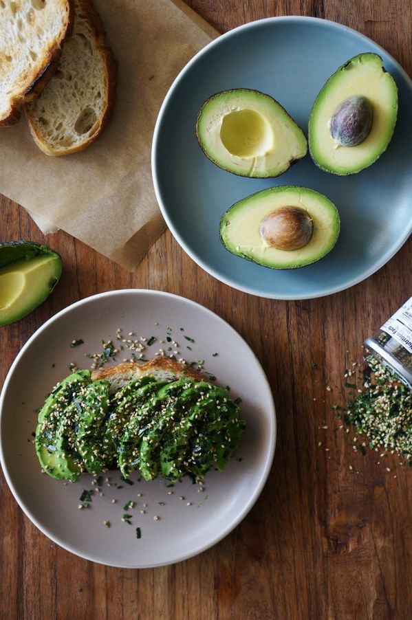 Avocado Toast with Furikake | HonestlyYUM
